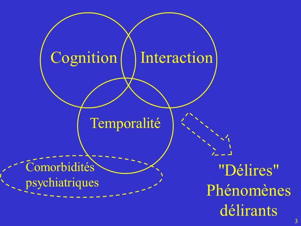 Cognition Interaction Délires Phénomènes délirants Temporalité
