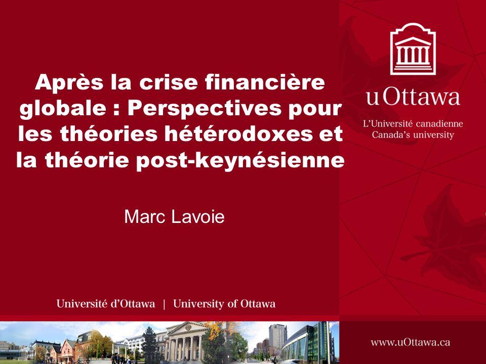 Après la crise financière globale : Perspectives pour les théories hétérodoxes et la théorie post-keynésienne