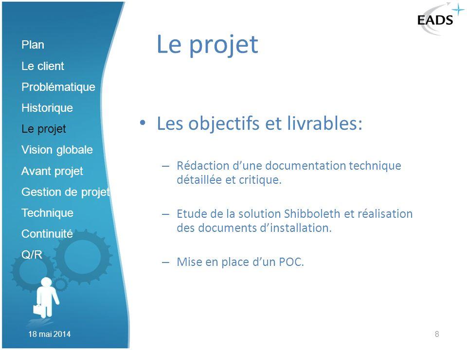 Le projet Les objectifs et livrables: