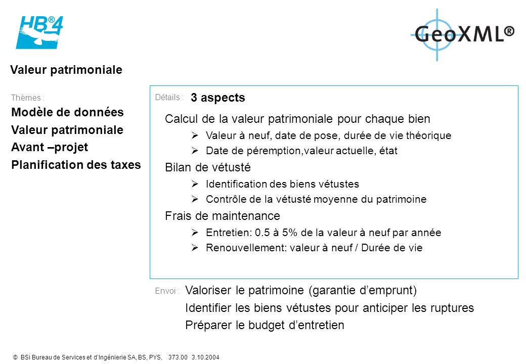Planification des taxes