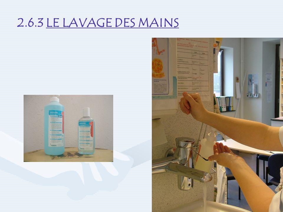 2.6.3 LE LAVAGE DES MAINS