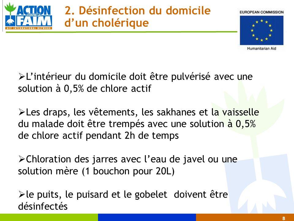 2. Désinfection du domicile d'un cholérique