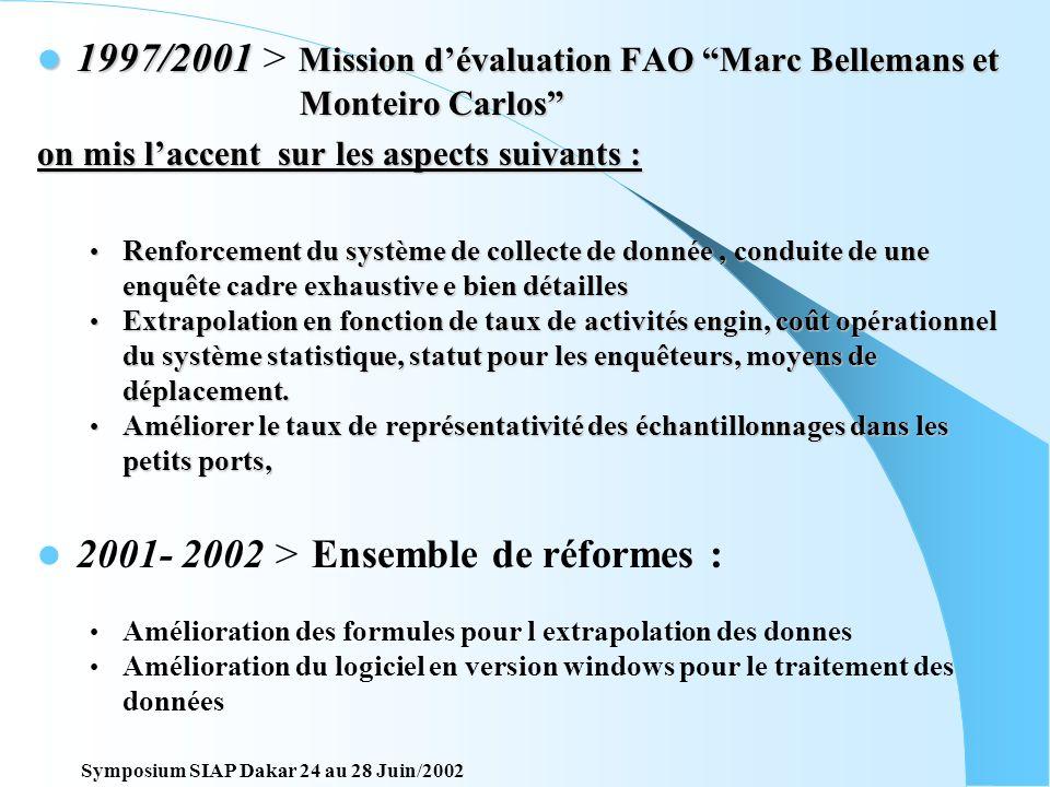 2001- 2002 > Ensemble de réformes :