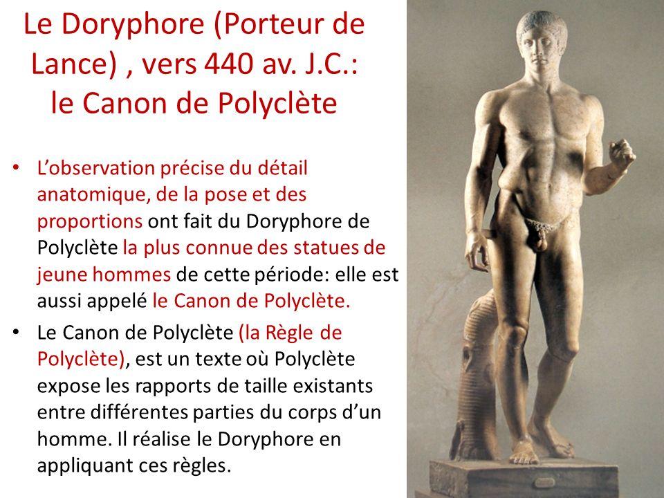 Le Doryphore (Porteur de Lance) , vers 440 av. J. C