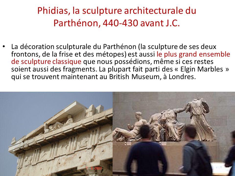 Phidias, la sculpture architecturale du Parthénon, 440-430 avant J.C.