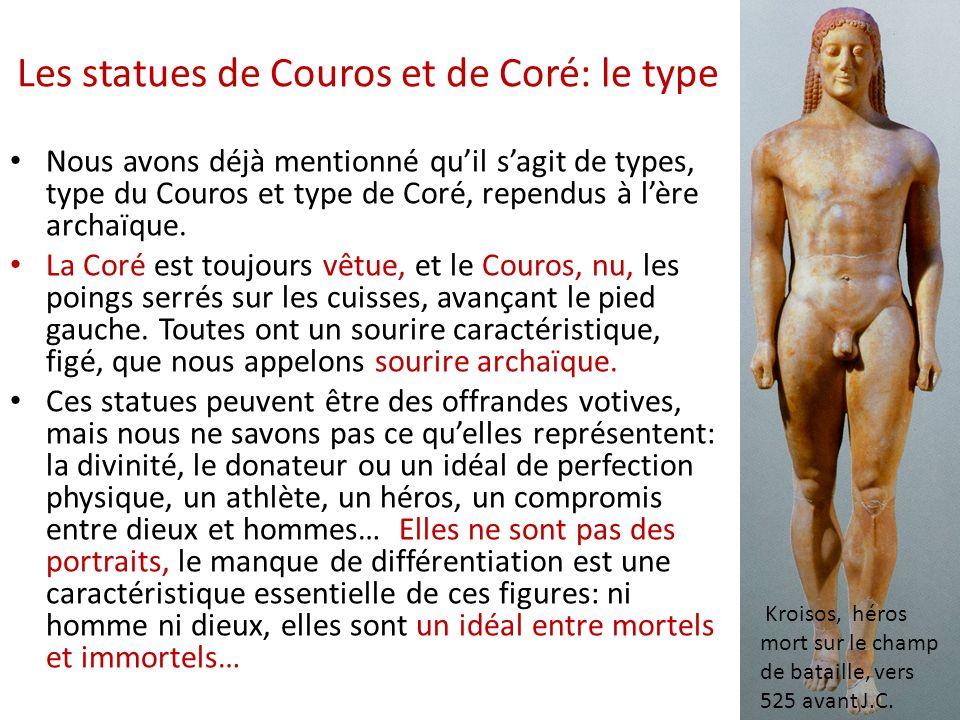 Les statues de Couros et de Coré: le type