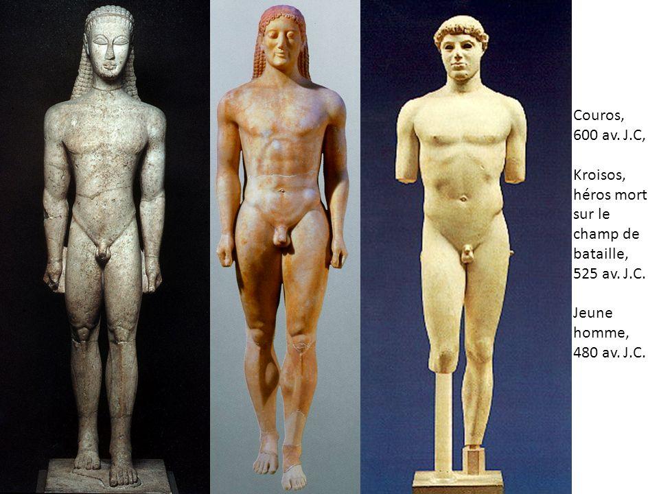 Couros, 600 av. J.C, Kroisos, héros mort sur le champ de bataille, 525 av.