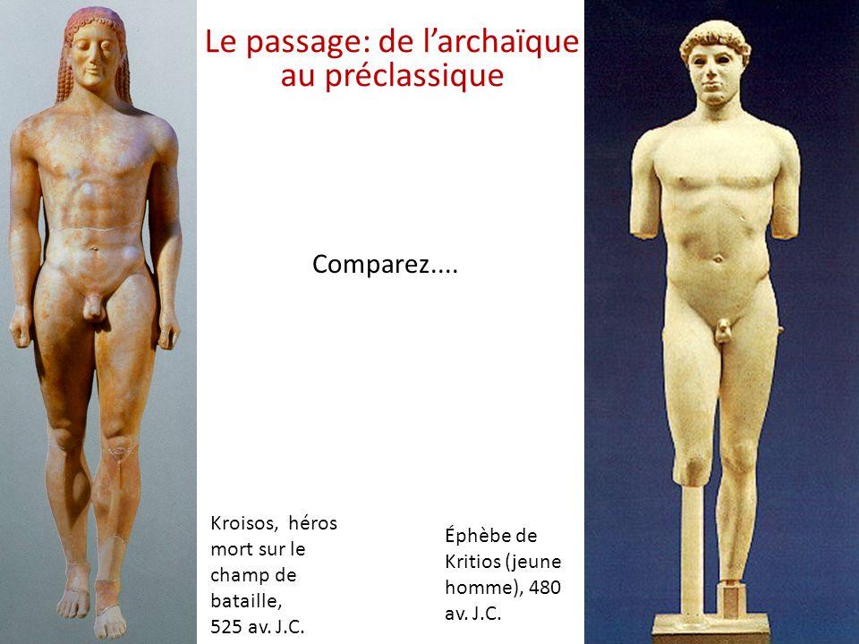 Le passage: de l'archaïque au préclassique