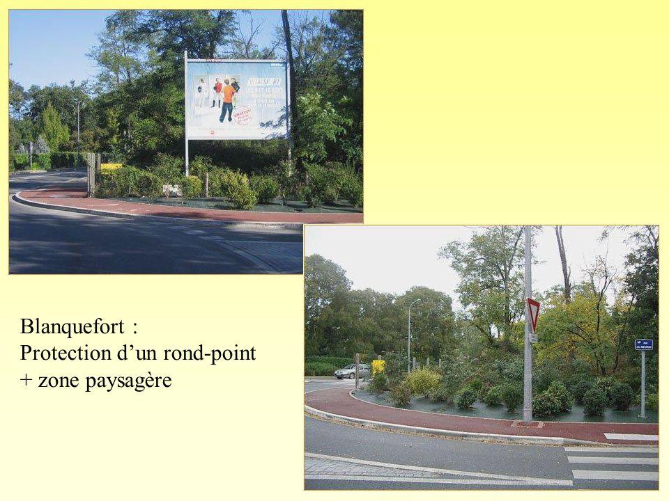 Blanquefort : Protection d'un rond-point + zone paysagère