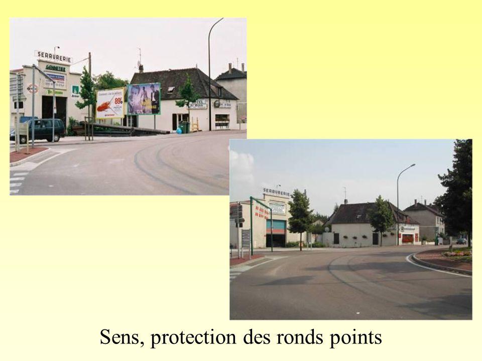 Sens, protection des ronds points