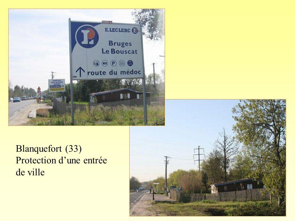 Blanquefort (33) Protection d'une entrée de ville