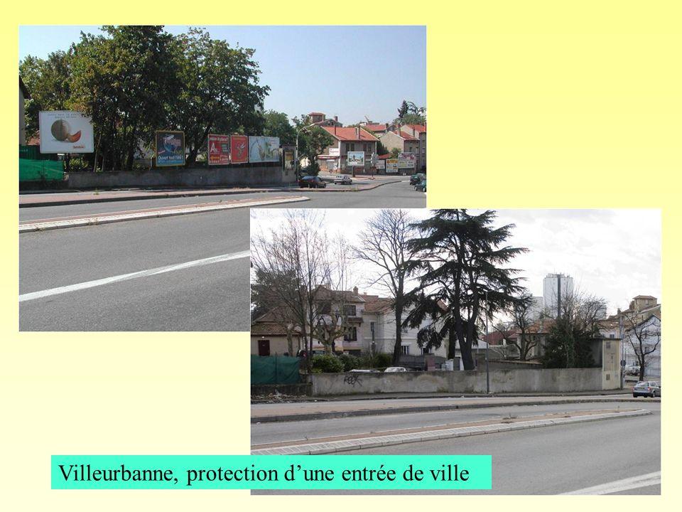 Villeurbanne, protection d'une entrée de ville