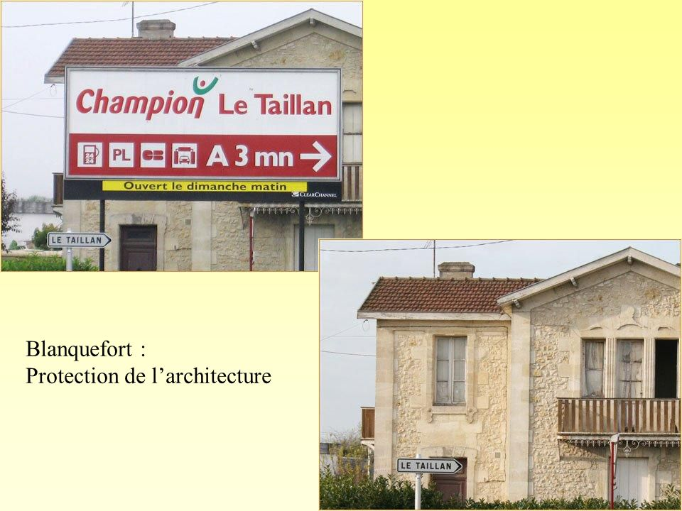 Blanquefort : Protection de l'architecture