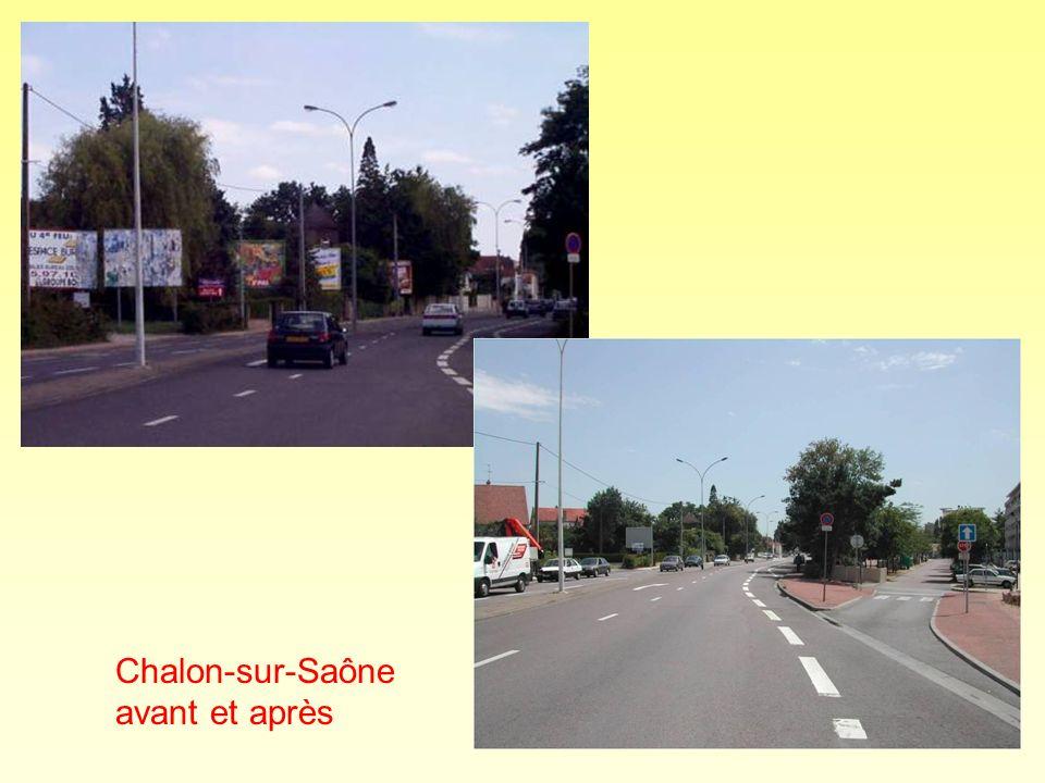 Chalon-sur-Saône avant et après