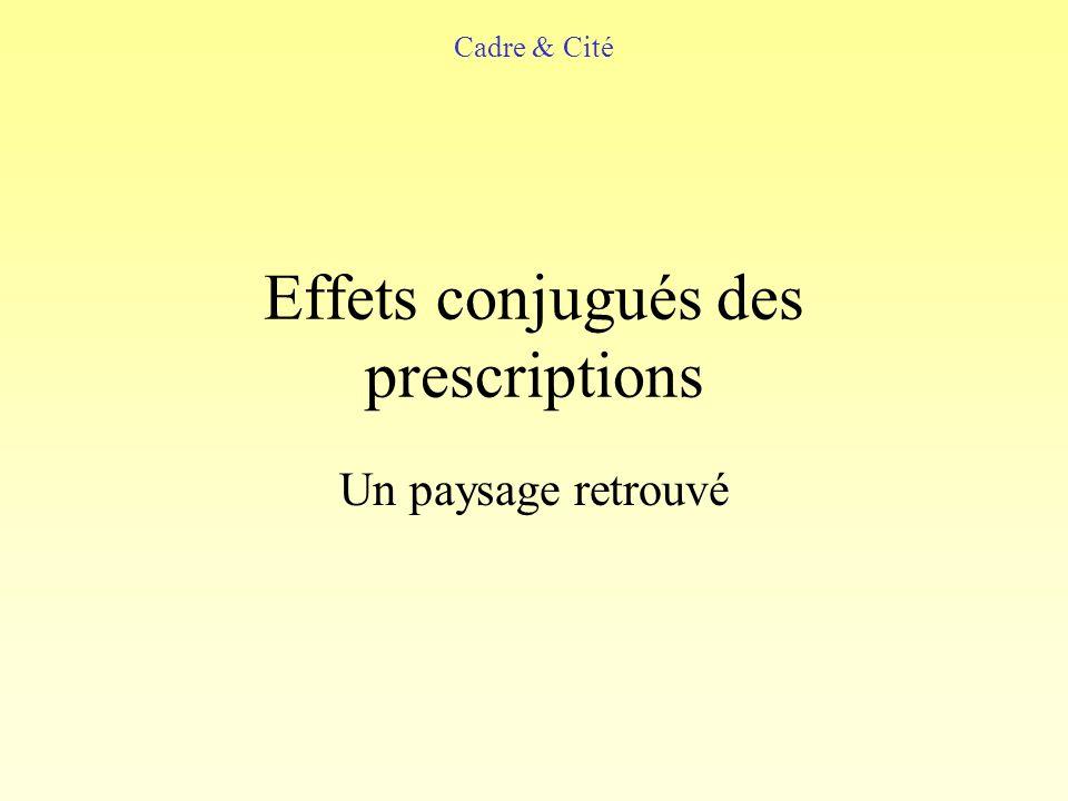 Effets conjugués des prescriptions