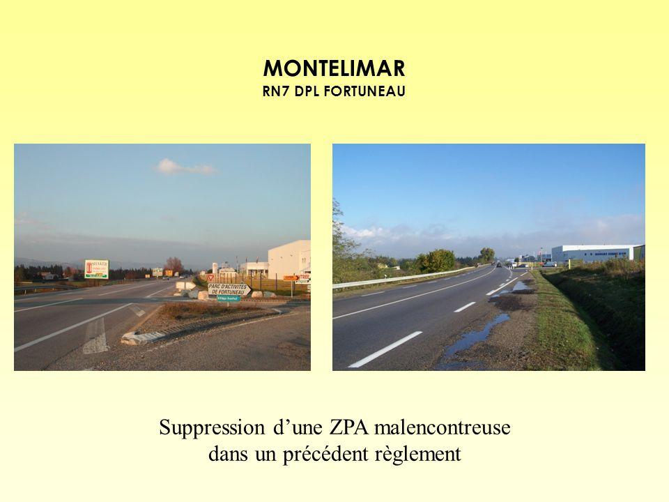 Suppression d'une ZPA malencontreuse dans un précédent règlement