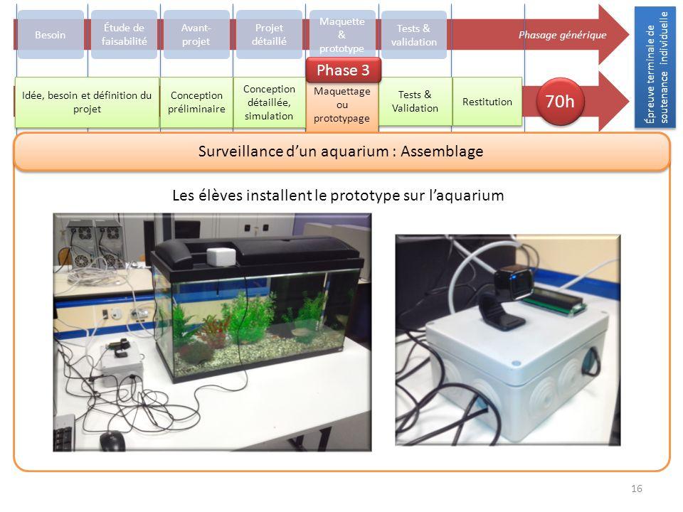 70h Phase 3 Surveillance d'un aquarium : Assemblage