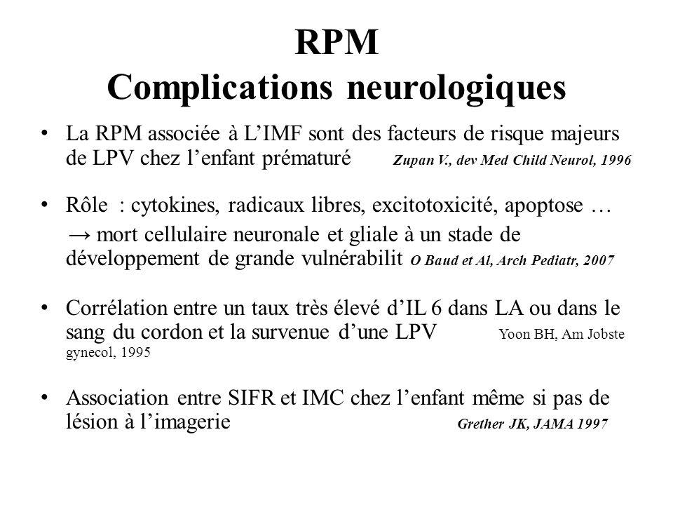 RPM Complications neurologiques
