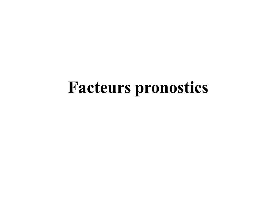 Facteurs pronostics