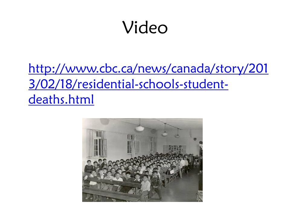Video http://www.cbc.ca/news/canada/story/2013/02/18/residential-schools-student-deaths.html