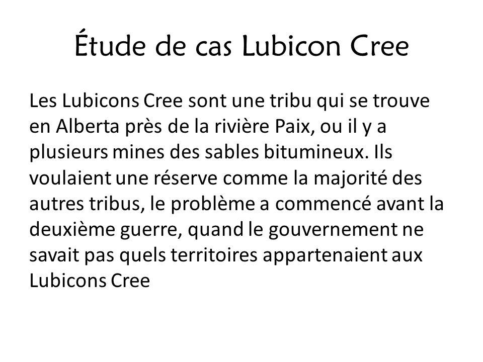Étude de cas Lubicon Cree