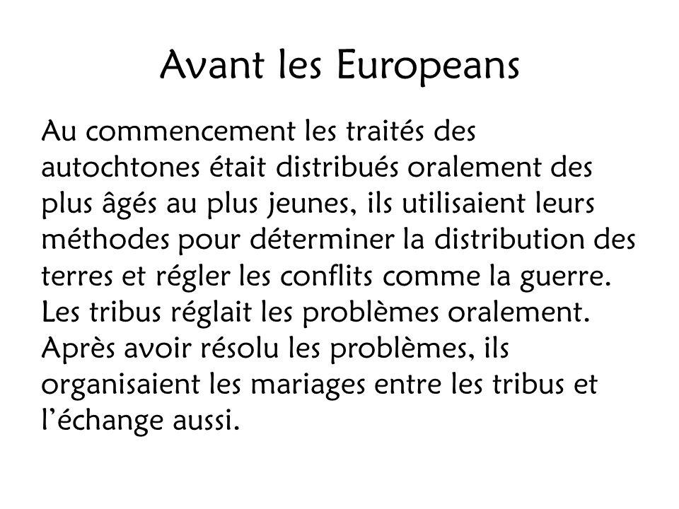 Avant les Europeans