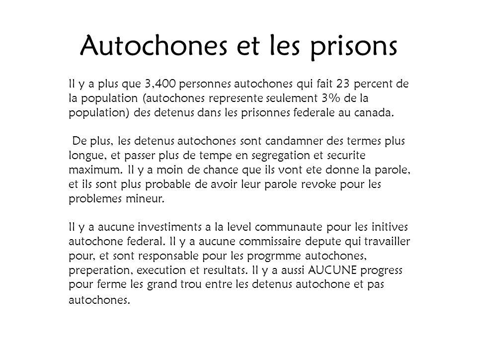 Autochones et les prisons
