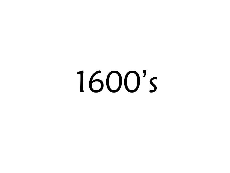 1600's