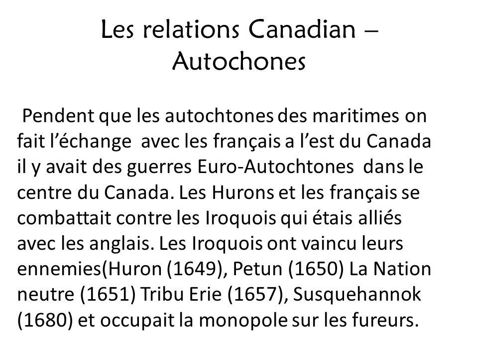 Les relations Canadian – Autochones