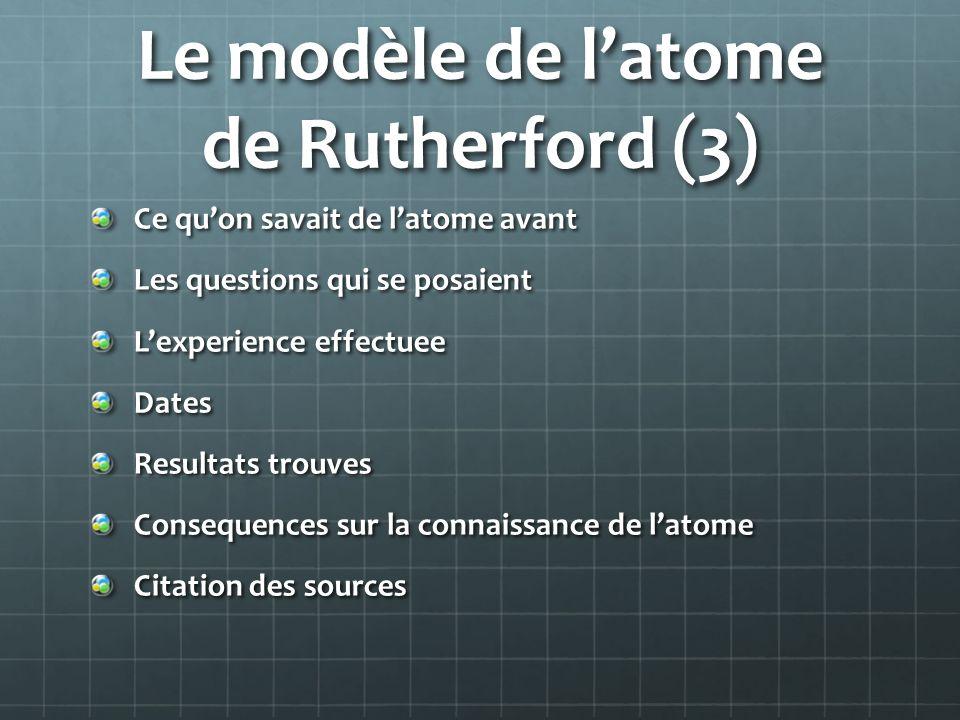 Le modèle de l'atome de Rutherford (3)