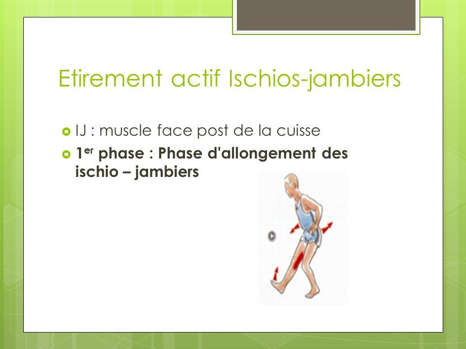 Etirement actif Ischios-jambiers