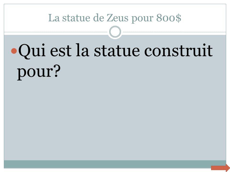 Qui est la statue construit pour