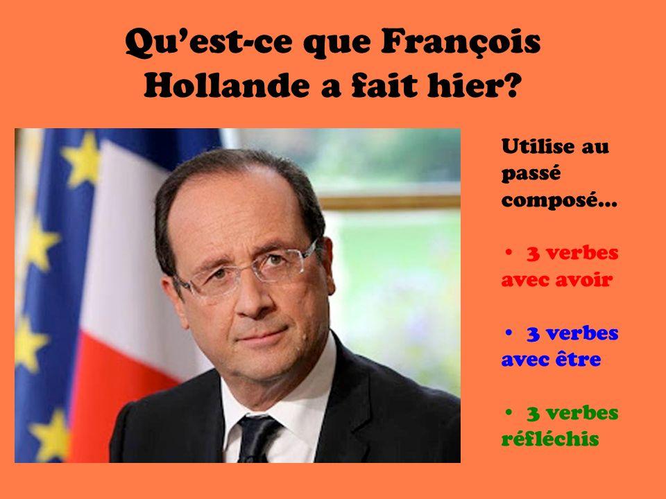 Qu'est-ce que François Hollande a fait hier