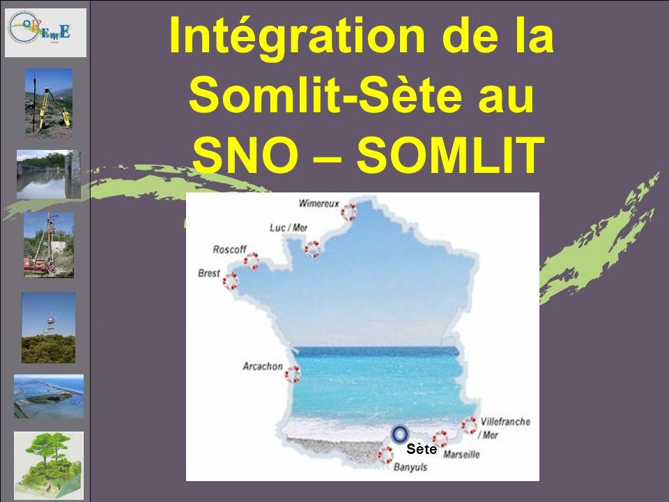 Intégration de la Somlit-Sète au SNO – SOMLIT