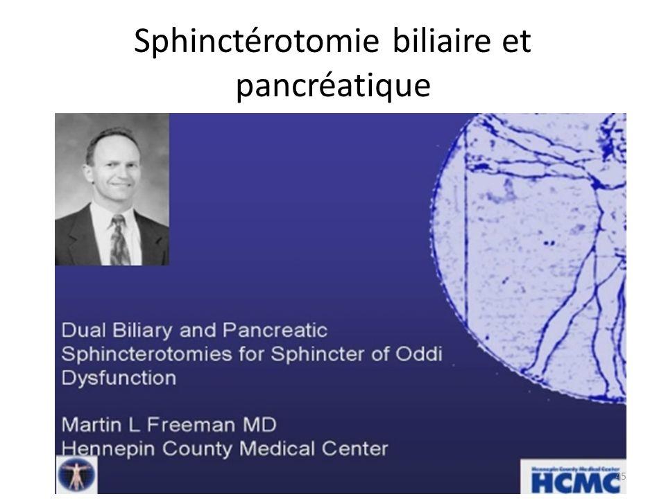 Sphinctérotomie biliaire et pancréatique
