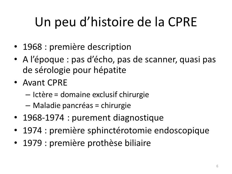 Un peu d'histoire de la CPRE