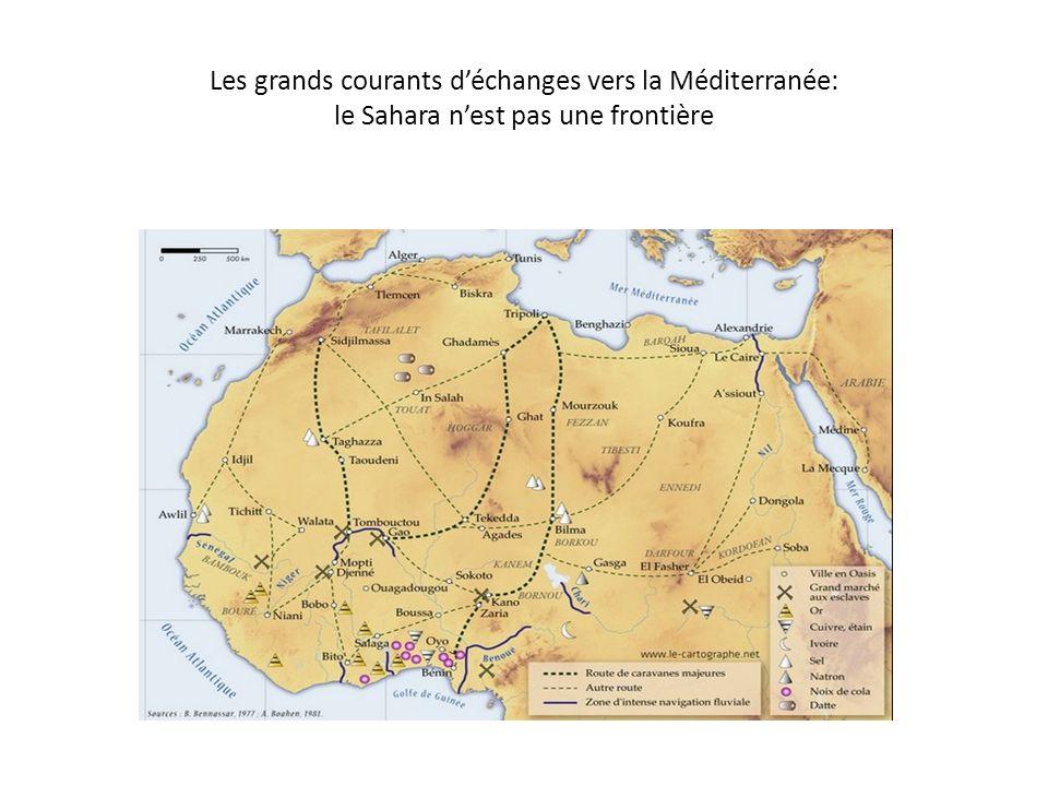 Les grands courants d'échanges vers la Méditerranée: le Sahara n'est pas une frontière