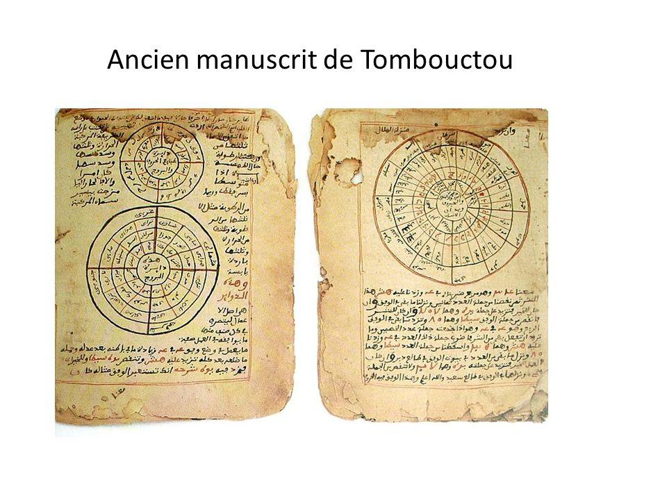 Ancien manuscrit de Tombouctou