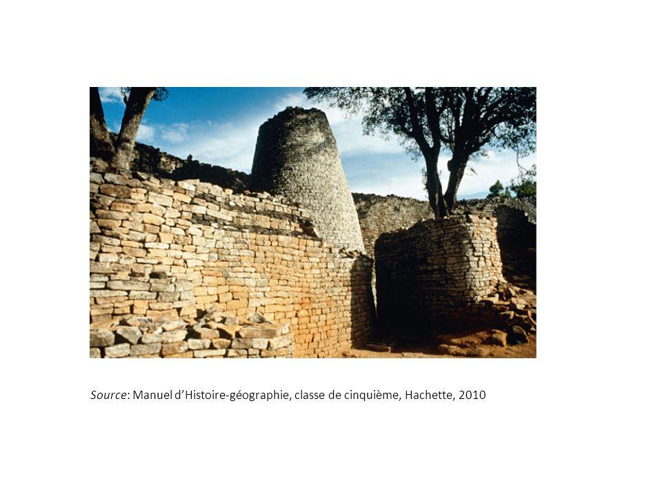 Source: Manuel d'Histoire-géographie, classe de cinquième, Hachette, 2010