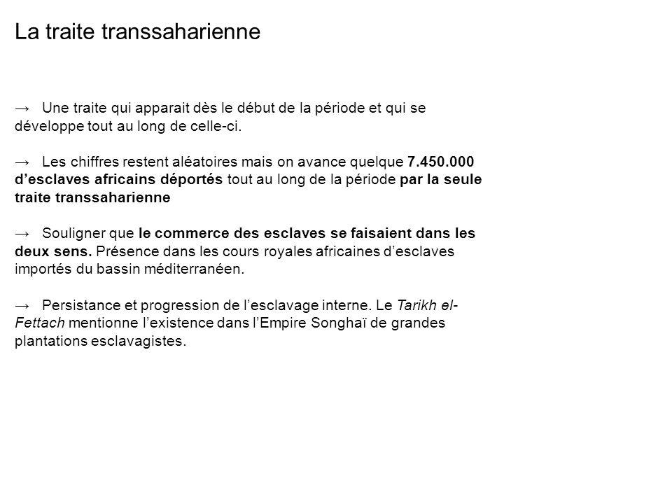 La traite transsaharienne