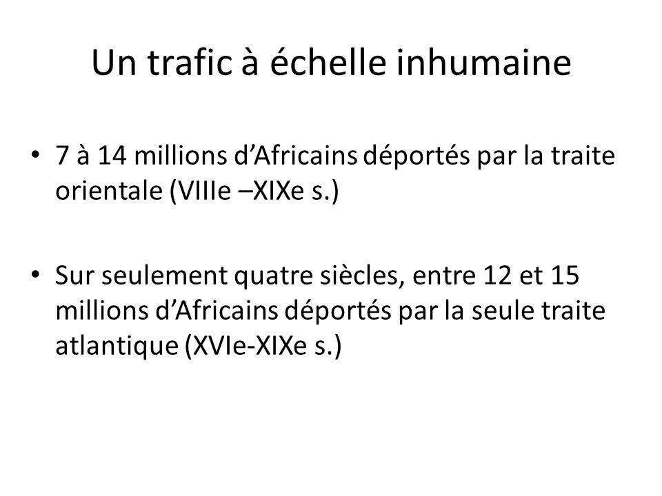 Un trafic à échelle inhumaine