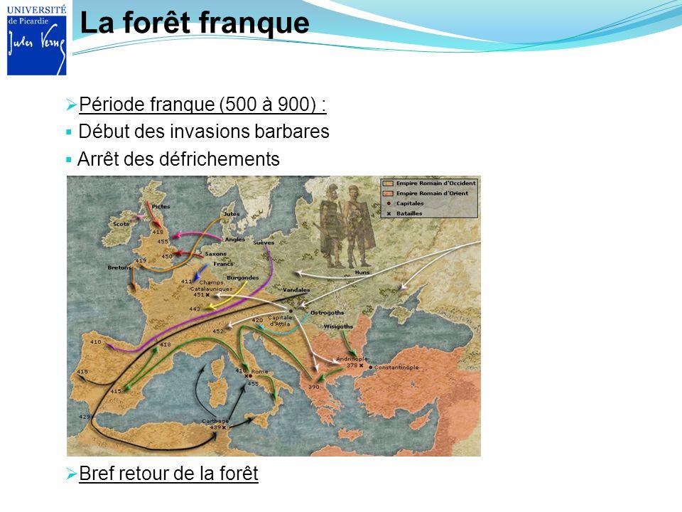 La forêt franque Période franque (500 à 900) :