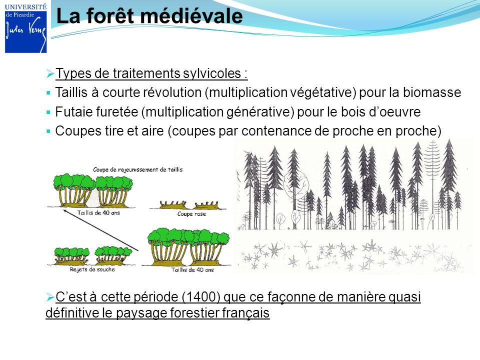 La forêt médiévale Types de traitements sylvicoles :