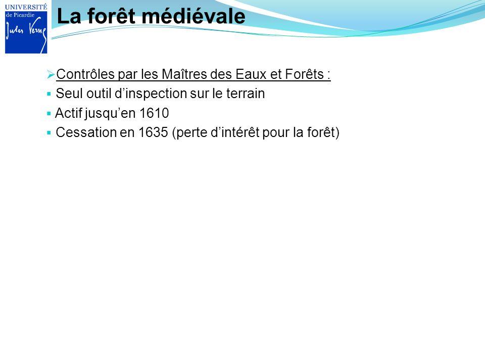La forêt médiévale Contrôles par les Maîtres des Eaux et Forêts :