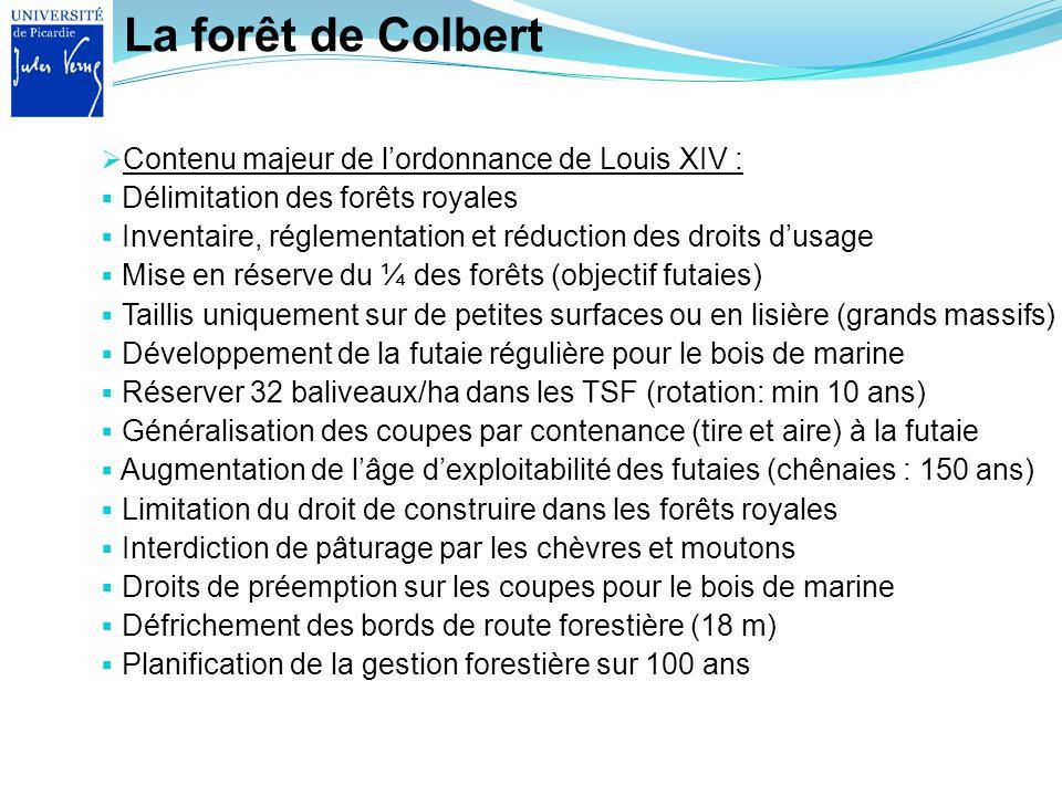 La forêt de Colbert Contenu majeur de l'ordonnance de Louis XIV :