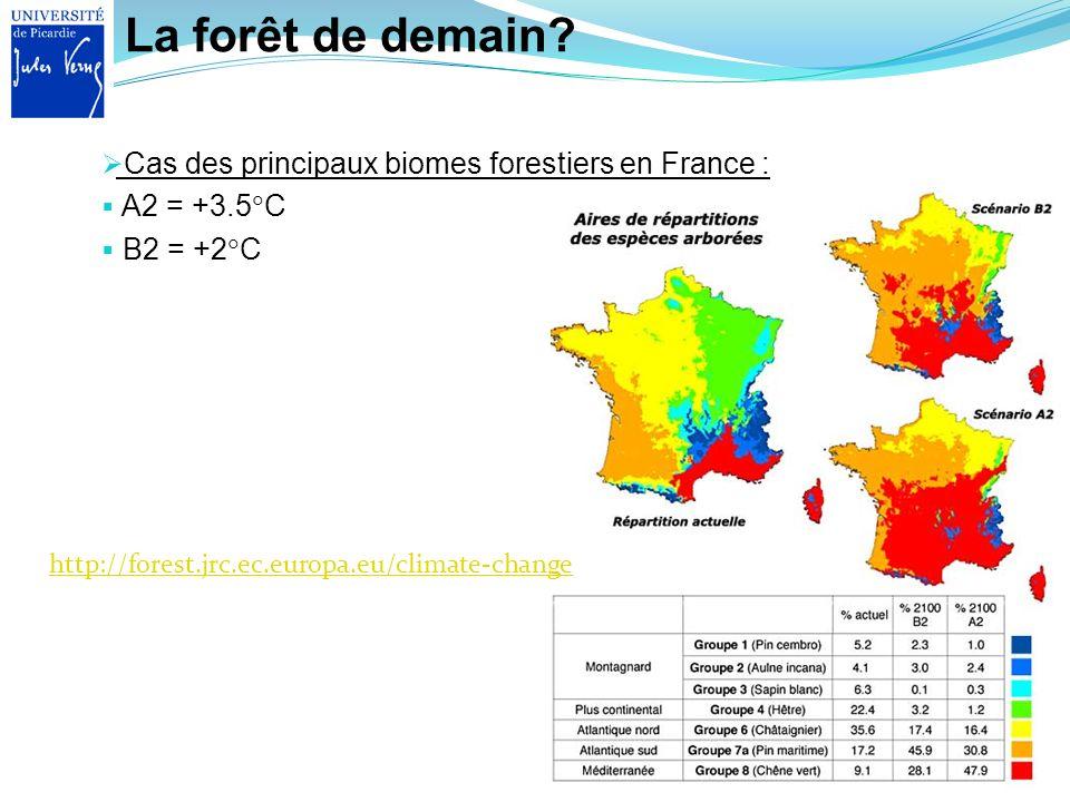 La forêt de demain Cas des principaux biomes forestiers en France :