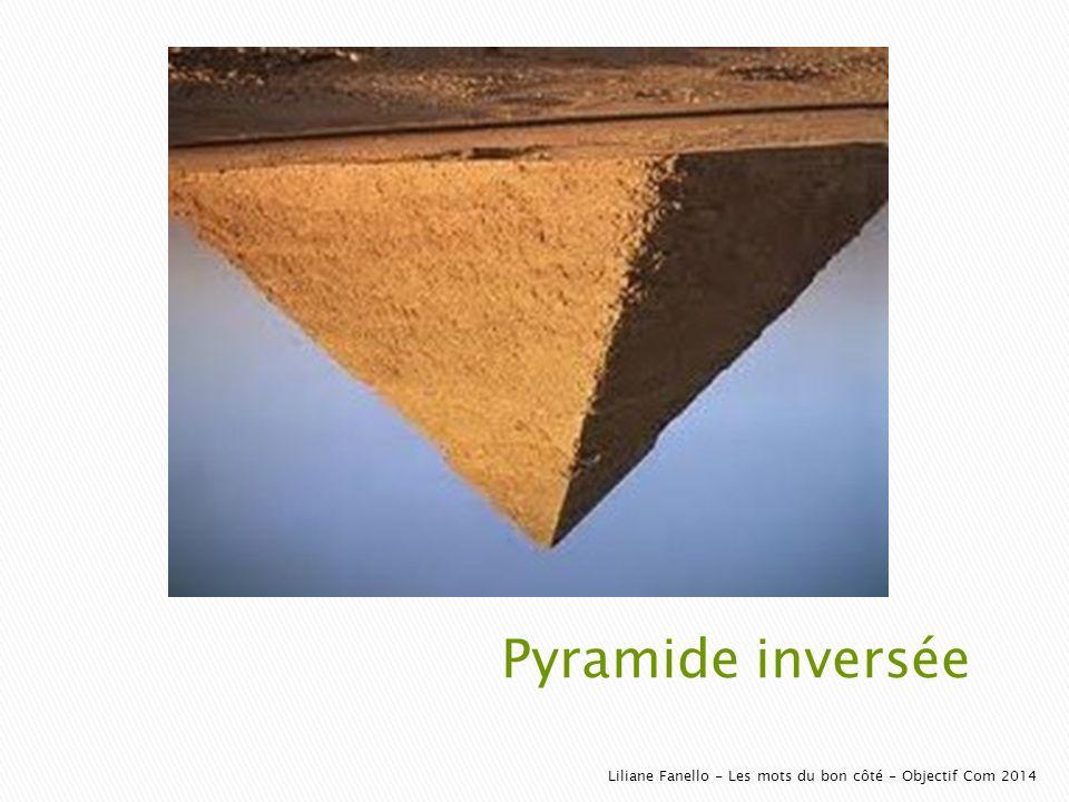 Pyramide inversée Liliane Fanello - Les mots du bon côté - Objectif Com 2014