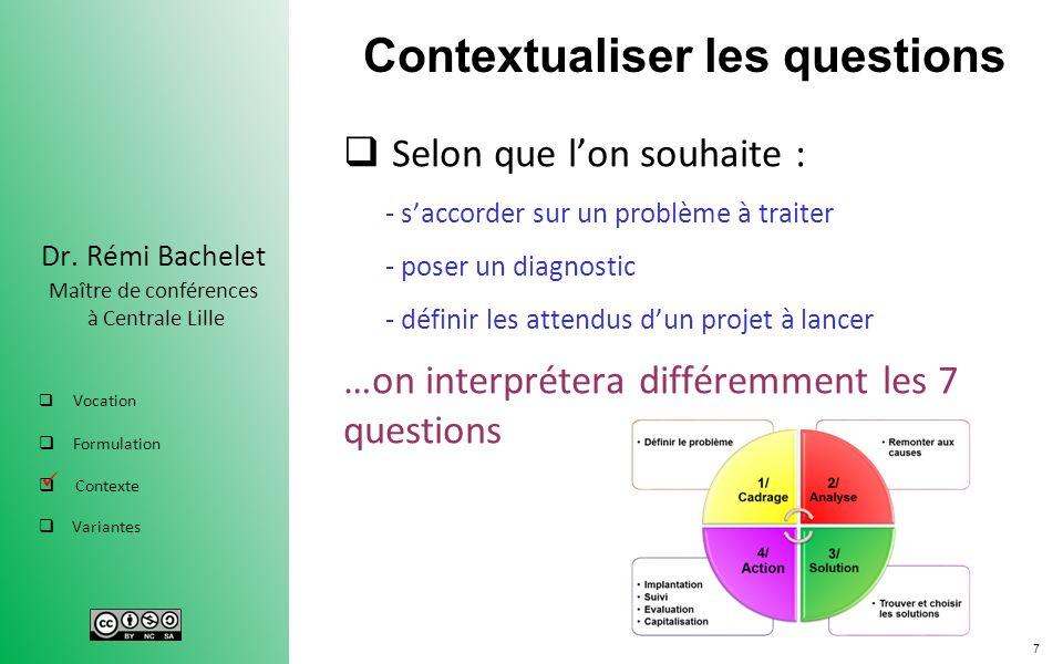 Contextualiser les questions