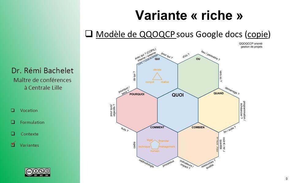 Variante « riche » Modèle de QQOQCP sous Google docs (copie) .