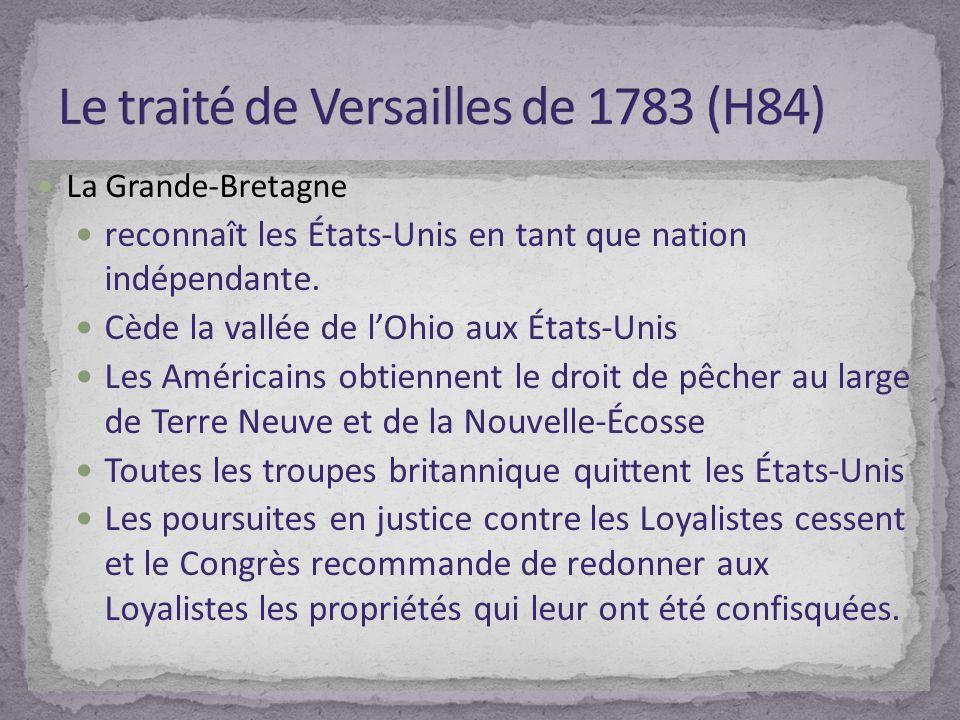 Le traité de Versailles de 1783 (H84)